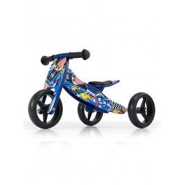 Milly Mally Dětské multifunkční odrážedlo kolo 2v1 Milly Mally JAKE Blue Cars