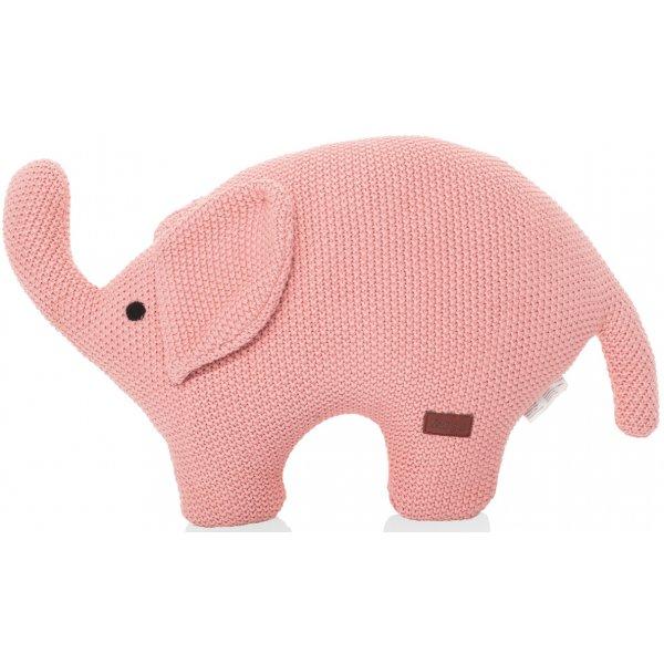 Zopa Pletená hračka Slon Pink
