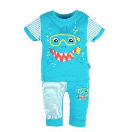 New Baby Kojenecké tričko s krátkým rukávem a tepláčky New Baby Shark