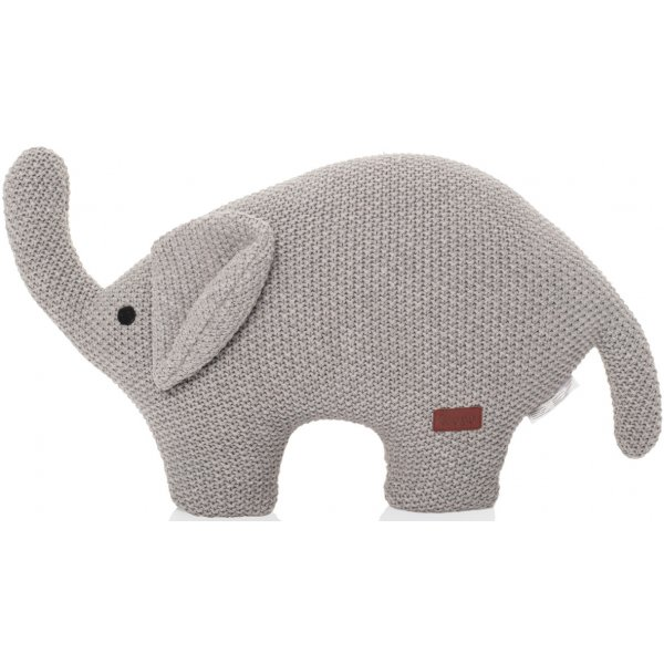 Zopa Pletená hračka Slon Grey