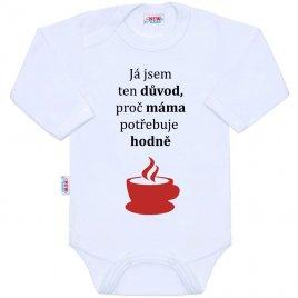 New Baby Body s potiskem New Baby ...hodně kávy...