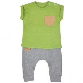 Koala Kojenecké tepláčky a tričko Koala Summer Boy šedo-zelené