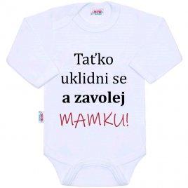 New Baby Body s potiskem New Baby a zavolej MAMKU!