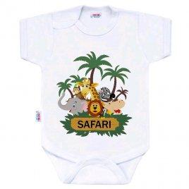 New Baby Body s potiskem New Baby SAFARI