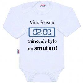 New Baby Body s potiskem New Baby 02:00 ráno