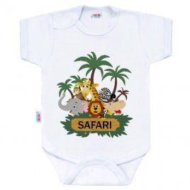 New Baby Body s potiskem New Baby SAFARI