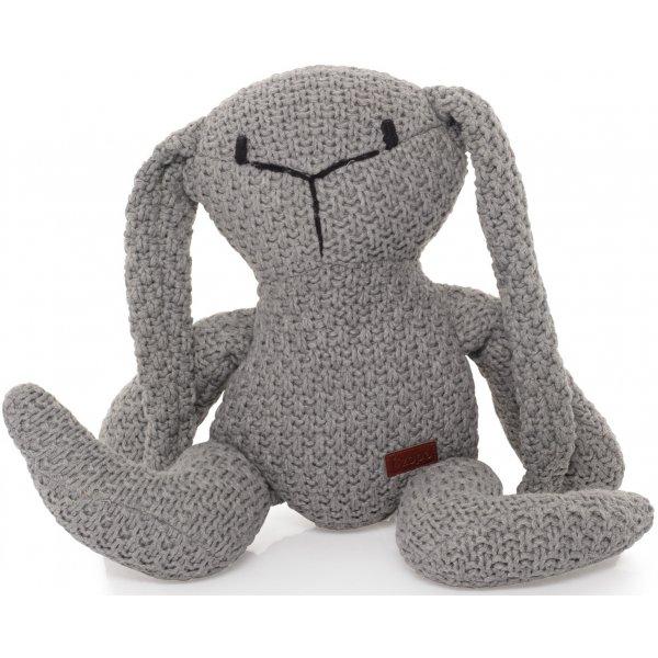 Zopa Pletená hračka Zajíc Grey