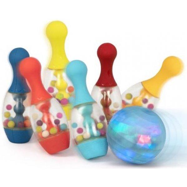 B.toys Bowling sada se svítící koulí Modrá