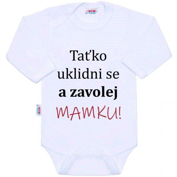 New Baby Body s potiskem New Baby a zavolej MAMKU! Bílá