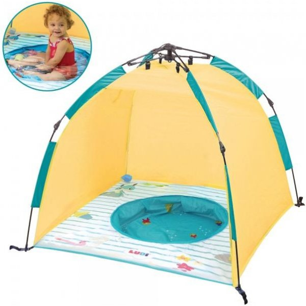 Ludi Stan pro děti s bazénem anti-UV Express Žlutá