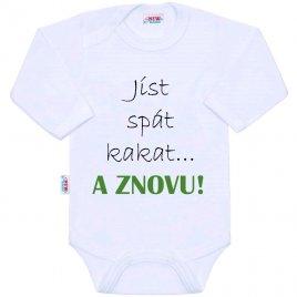 New Baby Body s potiskem New Baby jíst spát kakat... A ZNOVU!