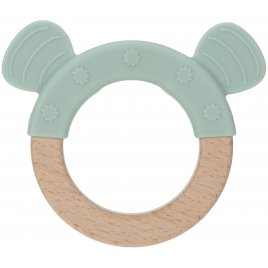 Lässig Teether Ring Wood/Silicone Little Chums