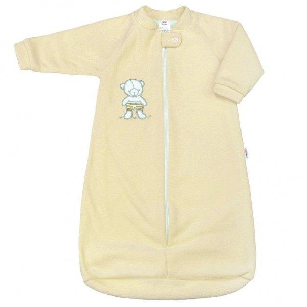 New Baby Kojenecký froté spací pytel New Baby medvídek žlutý Žlutá