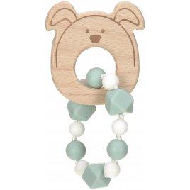 Lässig Teether Bracelet Wood/Silicone Little Chums