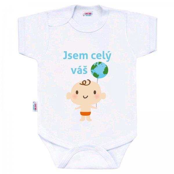 New Baby Body s potiskem New Baby Jsem celý váš