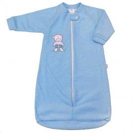 New Baby Kojenecký froté spací pytel New Baby medvídek modrý