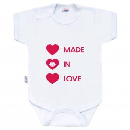 New Baby Body s potiskem New Baby MADE IN LOVE