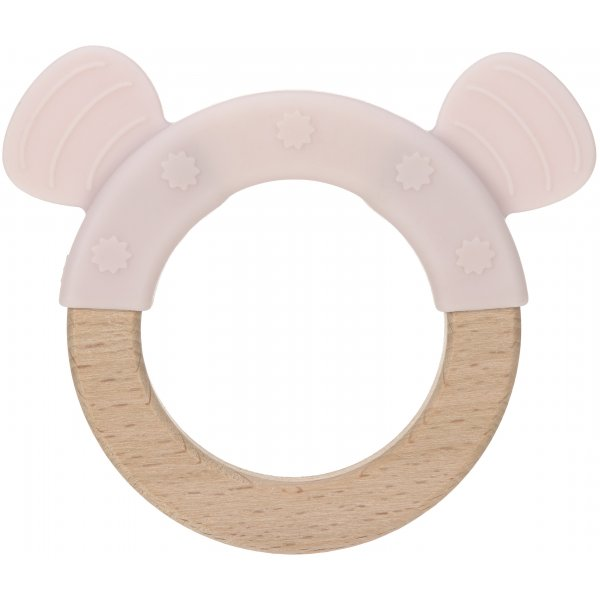 Lässig Teether Ring Wood/Silicone Little Chums Mouse