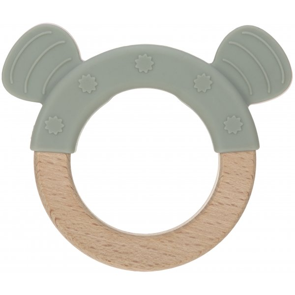 Lässig Teether Ring Wood/Silicone Little Chums Cat