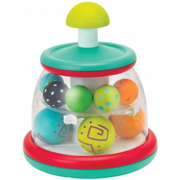 B Kids Hrací pult s rotujícími míčky Zelená
