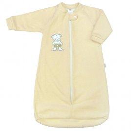 New Baby Kojenecký froté spací pytel New Baby medvídek žlutý