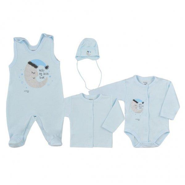 Koala 4-dílná kojenecká souprava Koala Moon modrá Modrá
