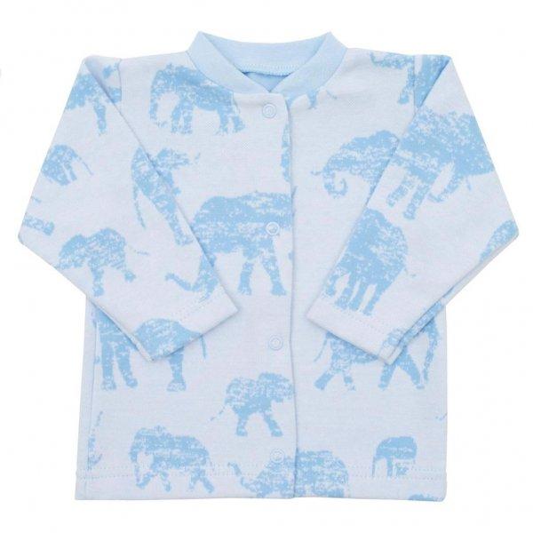 BABY SERVICE Kojenecký kabátek Baby Service Sloni modrý Modrá