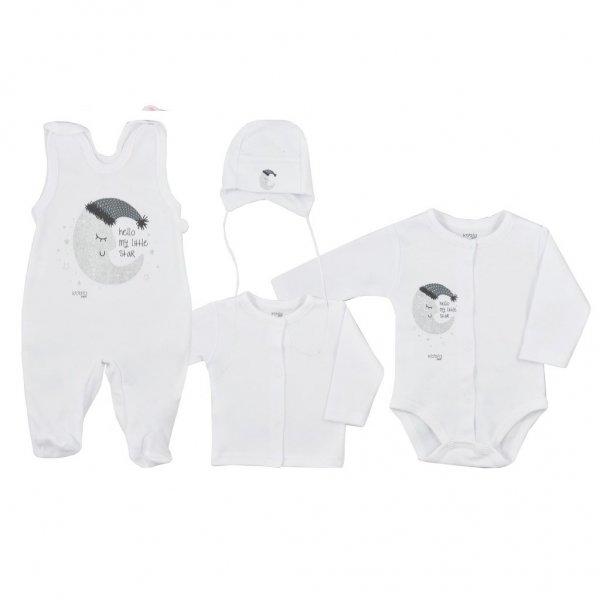 Koala 4-dílná kojenecká souprava Koala Moon bílá Bílá