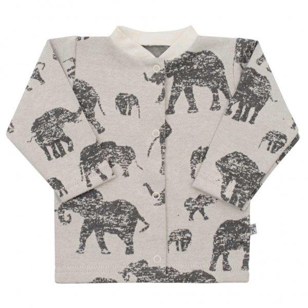 BABY SERVICE Kojenecký kabátek Baby Service Sloni šedý Šedá