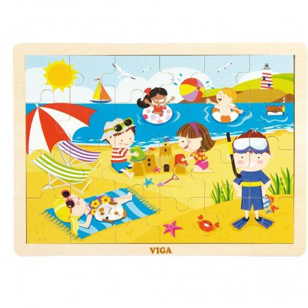Viga Dětské dřevěné puzzle Viga Léto Multicolor