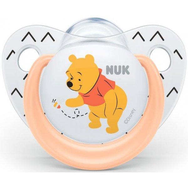 NUK Dudlík Trendline DISNEY-Medvídek Pú,SI,V2 (6-18m.) Oranžová