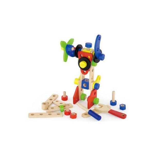 Viga Dřevěná konstrukční stavebnice pro děti Viga 48 dílů Multicolor