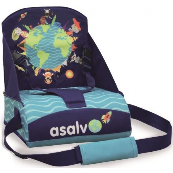Asalvo ANYWHERE booster na židli Animals of the world