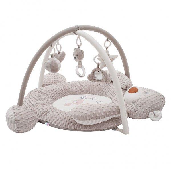 PlayTo Luxusní hrací deka z minky s melodií PlayTo medvídek Hnědá