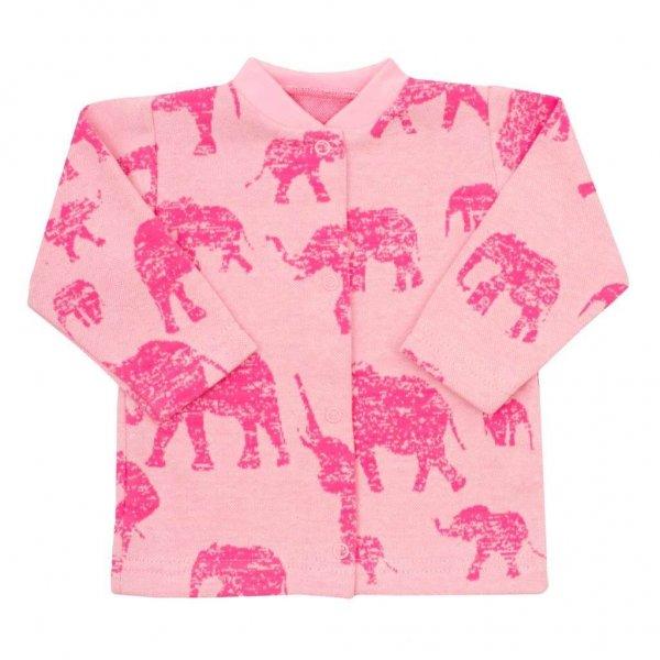 BABY SERVICE Kojenecký kabátek Baby Service Sloni růžový Růžová