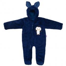 New Baby Zimní dětská kombinéza New Baby Penguin tmavě