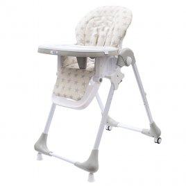 New Baby Jídelní židlička NEW BABY Gray Star - ekokůže