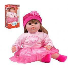 Playto Slovensky mluvící a zpívající dětská panenka PlayTo Tina 46 cm