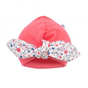 New Baby Dívčí čepička turban New Baby For Girls