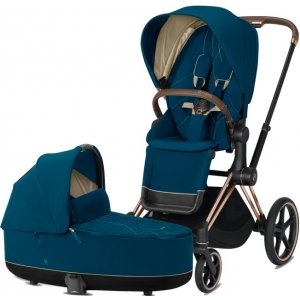 Cybex Priam podvozek, Seat Pack, Lux Carry Cot 2021 Mountain Blue
