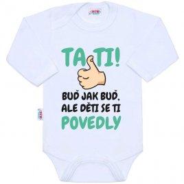 New Baby Body s potiskem New Baby Tati, ... děti se ti povedly