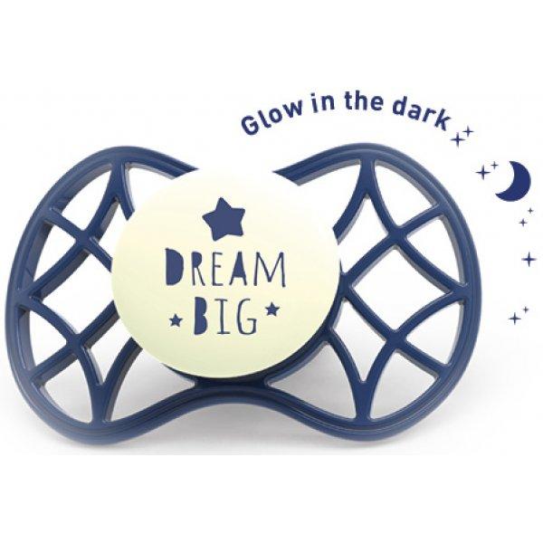 Nuvita Fyziologický dudlík Cool 6m+ svítící ve tmě Blue Moon