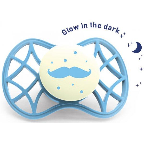 Nuvita Ortodontický dudlík Cool 6m+ svítící ve tmě Dusk blue