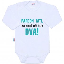 New Baby Body s potiskem New Baby Pardon tati, ...máš šéfy dva!