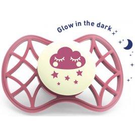 Nuvita Fyziologický dudlík Cool 0m+ svítící ve tmě