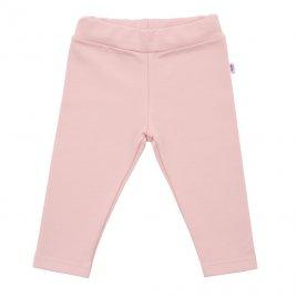 New Baby Kojenecké bavlněné legíny New Baby Leggings světle růžové