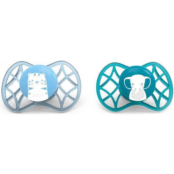 Nuvita Fyziologické dudlíky Explorer 0m+ 2ks Blue