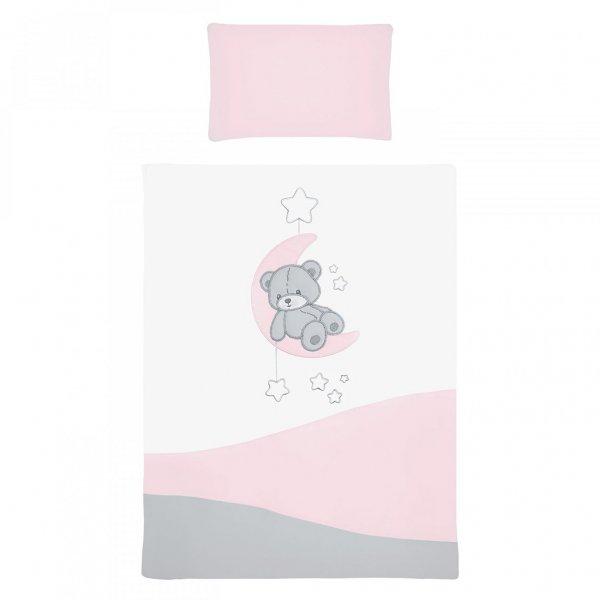 BELISIMA 5-dílné ložní povlečení Belisima Teddy Bear 90/120 růžové Růžová