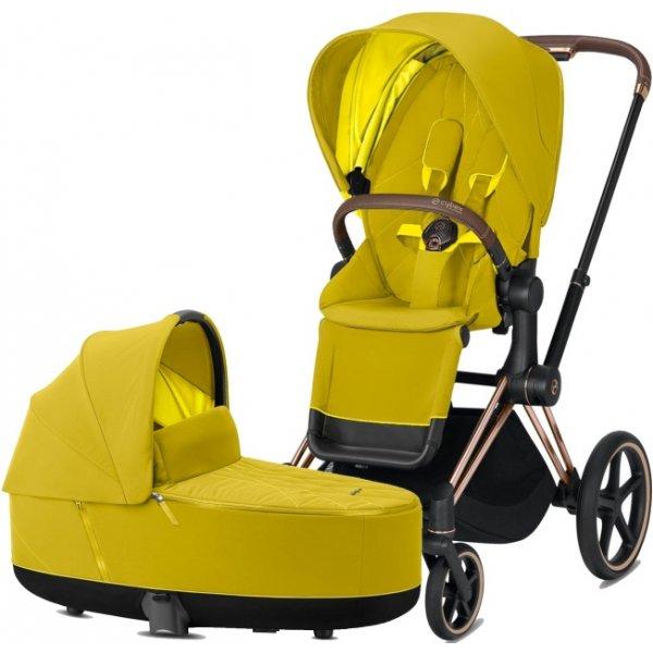 Cybex Priam podvozek, Seat Pack, Lux Carry Cot 2020 Mustard Yellow
