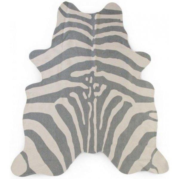 Childhome Koberec Zebra 145x160 cm Šedý